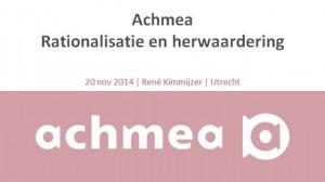 03 - Achmea - Rationalisatie en herwaardering